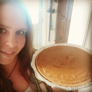 Crystal Groves of Copper Kettle Farms with sweet potato pie